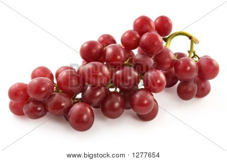 Ripe Juicy Red Grapes With Large Berries