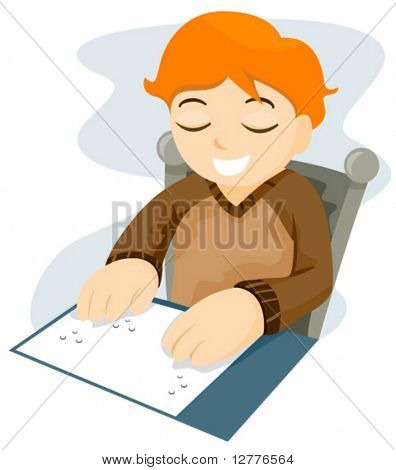 Braille Reading - Vector