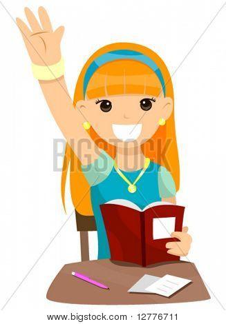 Teenage Student - Vector