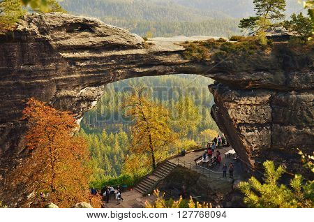 Prav ice Sandstone Gate, The Bohemian Switzerland National Park, Czech republic