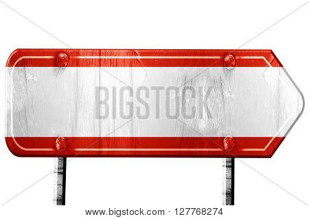 Austrian flag, 3D rendering, vintage road sign isolation