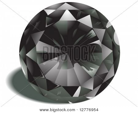 Diamond Birthstone - Vector