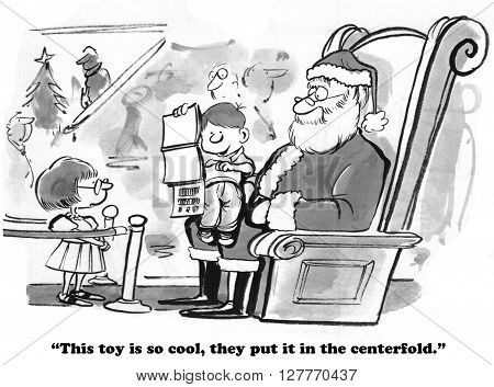 Christmas cartoon about a boy who wants the toy in the centerfold.