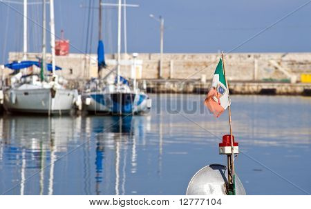 View of Bisceglie seaport. Apulia.