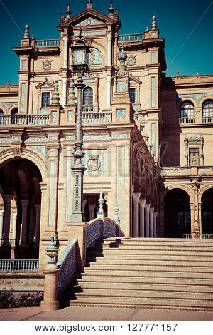 Spanish Square (Plaza de Espana) in Sevilla Spain