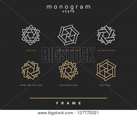 Set of elegant monogram design. Monogram design element . Monogram for use in the design . Monogram decor . Emblem design.