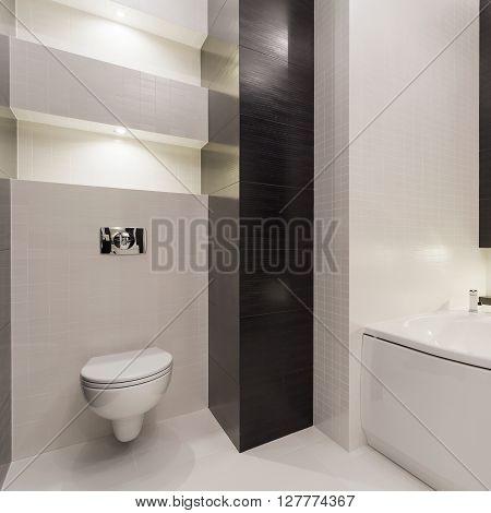 Black And White Modern Restroom