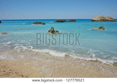 Amazing view of Katisma Beach, Lefkada, Ionian Islands, Greece