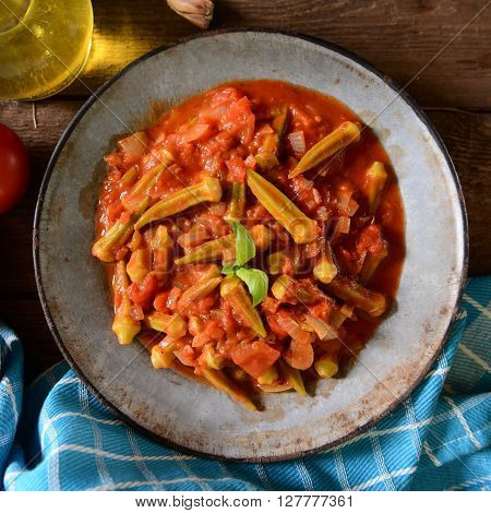 Okra Dish With Tomatoes