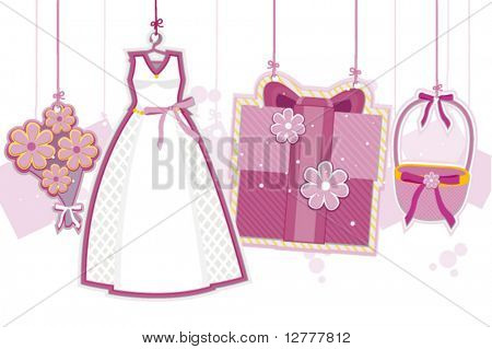 Wedding Strings - Vector
