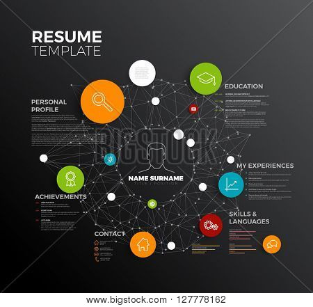 Vector Original Minimalist Cv Resume Template Creative Profile