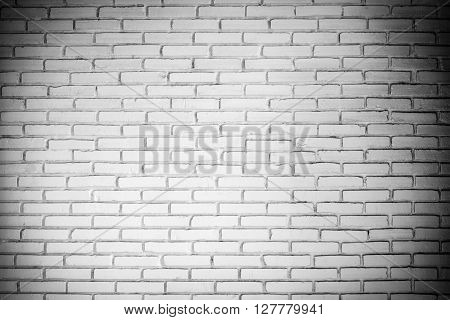 Old Vintage White Brick Wall, Abstract Pattern Background.