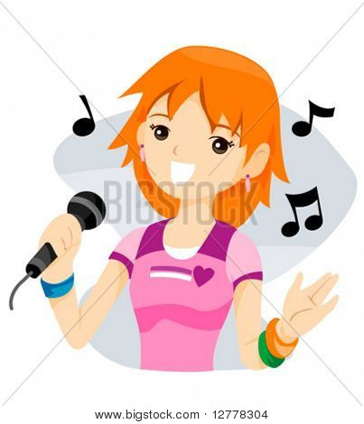 Singing - Vector