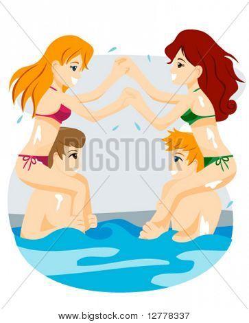 Summer Teens - Vector