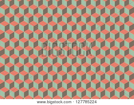Seamless Isometric Abstract Pattern. Geometry Pattern. Seamless Background. Vector Stock.
