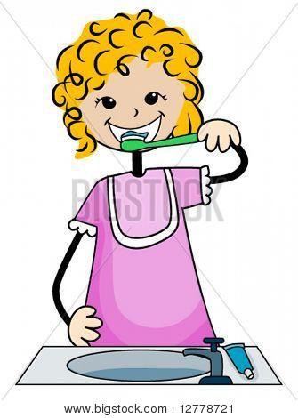 Zahnbürste Kid - Vektor