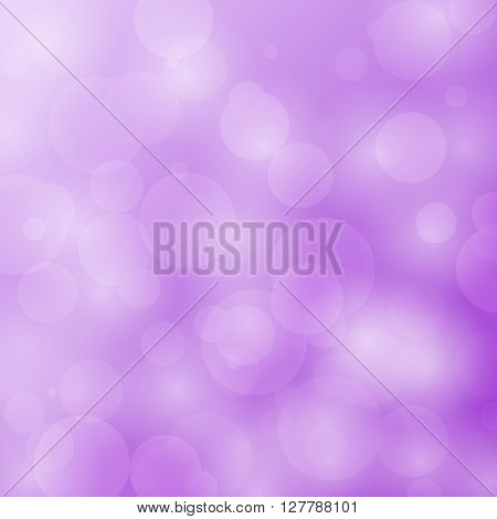 Abstract bokeh circles design on violet background, stock vector