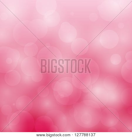 Abstract bokeh circles design on red background, stock vector