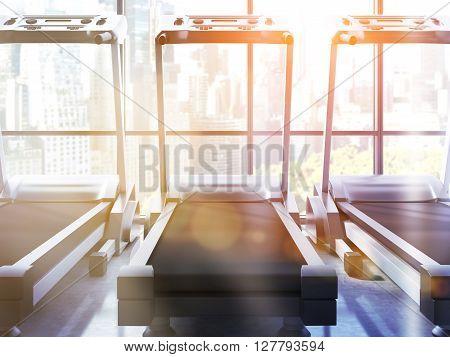 Three Treadmills Toning