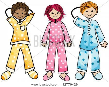 Pajama Kids - Vector