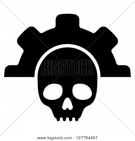 Dead Tools vector icon. Style is flat icon symbol, black color, white background.