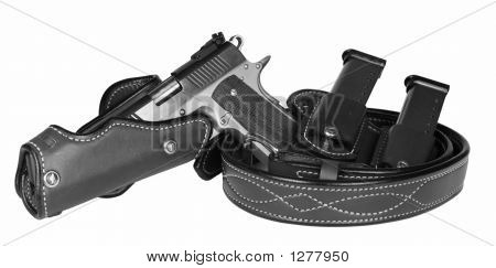 Pistol And Holster