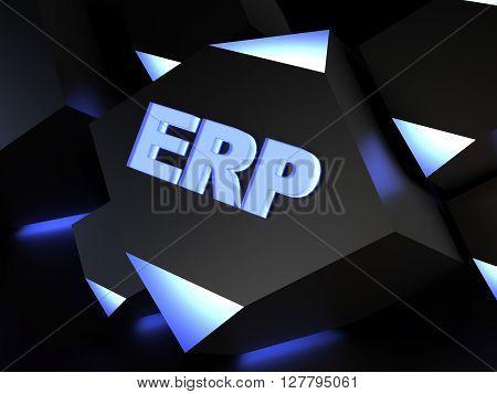 ERP (Enterprise resource planning) - computer generated image (3D render)
