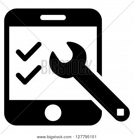 Smartphone Options vector icon. Style is flat icon symbol, black color, white background.