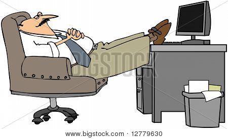 Man Asleep At His Desk