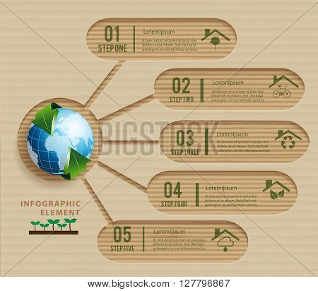 Template ecology for presentation business. Can used for infographic design, presentation business, data diagram,template design.