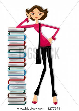 Girl Student - Vector