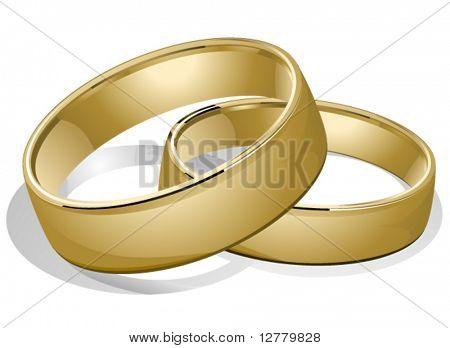 Anillos de boda - Vector