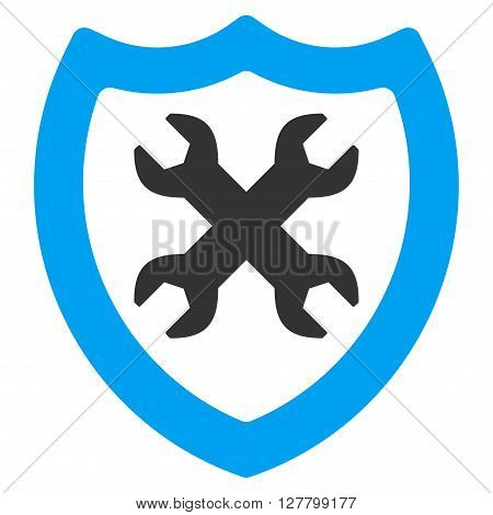 Security Preferences vector icon. Style is bicolor flat icon symbol, blue and gray colors, white background.