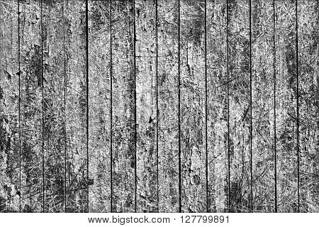 Texture Of Old Grey Painted Wooden Fence Scratched Styled