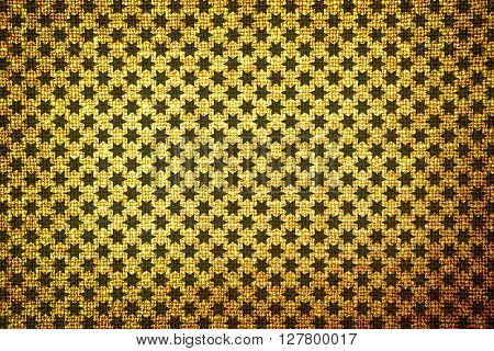 Old Brown Cloth High Contrasted Texture Stars Styled