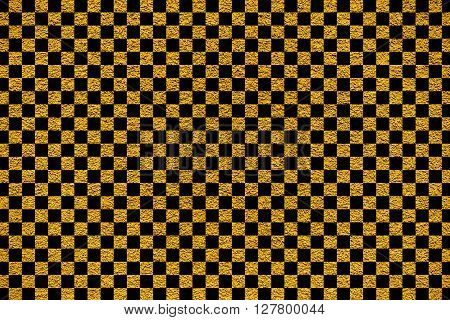 Golden Revetment Wall Putty Macro Texture Background Black Squares Styled