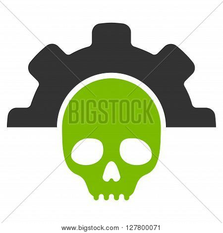 Dead Options vector icon. Style is bicolor flat icon symbol, eco green and gray colors, white background.
