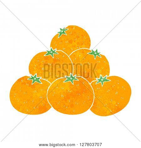 freehand retro cartoon oranges