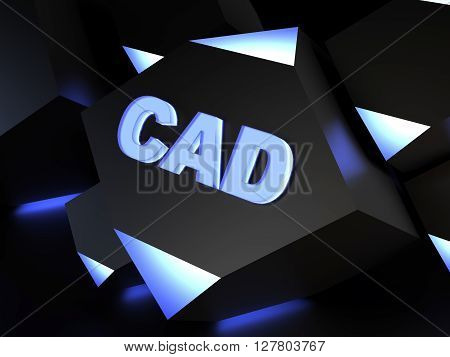 CAD - Computer-aided design - computer generated image (3D render)