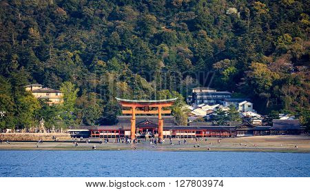 Itsukushima Shrine (View form the sea) Miyajima island Hiroshima Japan