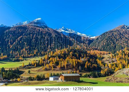 Beautiful View Of Bergun In Autumn