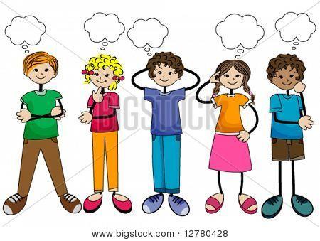 Un grupo de niños pensando - Imagui