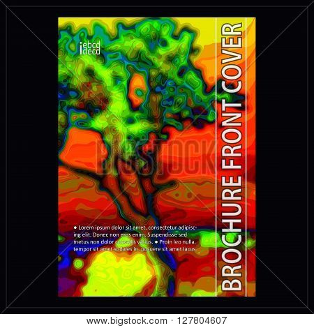 Multipurpose abstract cover design for book brochure report flyer booklet etc. Template layout in A4 format.