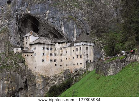 PREDJAMA, SLOVENIA - APRIL 15, 2014: Predjama Castle on April 15, 2014 in Predjama, Slovenia. It is a landmark Renassiance castle in Slovenia.