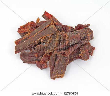 Beef Jerky Overhead View