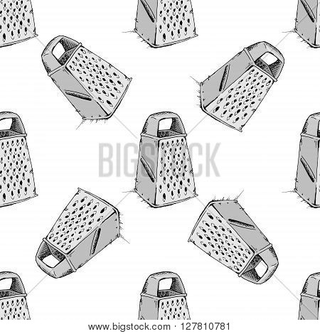 Grater background pattern. Hand drawn stock illustration