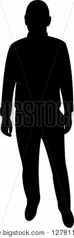 a man body black color silhouette vector