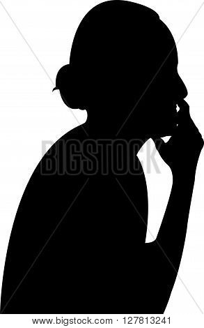 a lady black color silhouette vector artwork