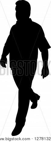 a walking man black color silhouette artwork