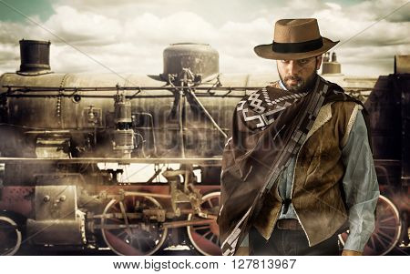 Gunfighter At The Train Station.
